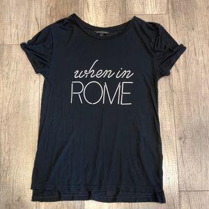 When In Rome Black Tee